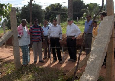 Mr. Jim Hogan & Mr. Sanjy Dube Visited to Mr. T.Narayanaswamy Plot Gulya on 13-9-2007