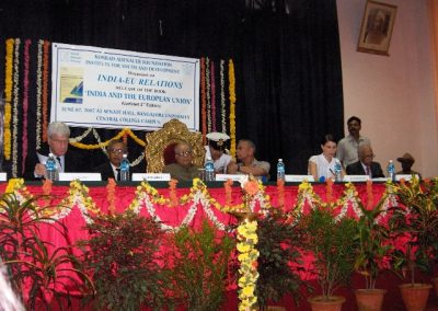 Seminar on India-EU relations, Bangalore